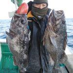 勝谷さんが釣った黒ゾイ57cm,55cm