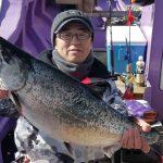 千歳市の井口さんが釣った5.5kgです