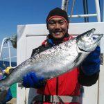 札幌市の安藤さん釣った4.1kgです