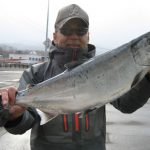 熊谷さんの桜鱒63cm,3.93kg