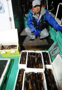 札幌市の福田さんも真イカを数釣り