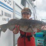 今金町の高橋さんが釣った真ダラは90cm町です!。