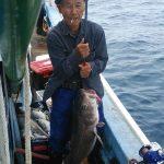 苫小牧市の川村さんが釣った真ダラ1.3m