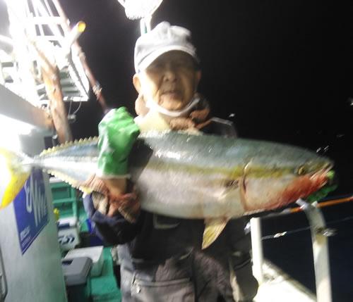沼田町の土江さんが釣った11kgです