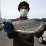 西村さんのサクラマスは57cm,2.7kgでした。
