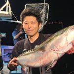 千歳市の吉田さんが釣ったブリは10.7kg